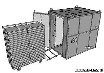 Рециркуляционная нагревательная установка РНУ-50.
